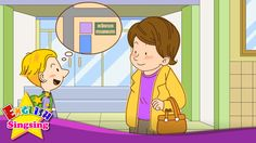 Where is it? - Go straight. (Easy Dialogue) - English video for Kids - E...