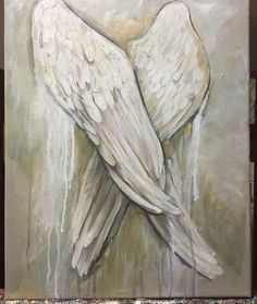 Angel Wings painting 16x20 Angel Resting by MichelleLakeArt