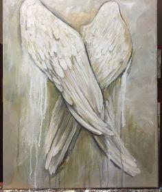 Angel Wings painting 16x20 Angel Resting by MichelleLakeArt