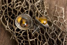 Amber Cup Earrings by Chase Gilbert @ cgilly.com