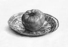 달동네 그림연구실 :: [정물소묘/과정작] 토마토, 은박접시