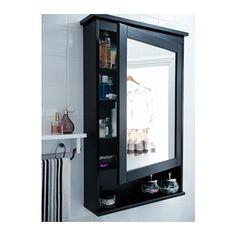 HEMNES Mirror Cabinet With 1 Door Black Brown Stain IKEA