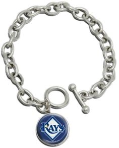 8'' toggle bracelet and charm that features the logo of your favorite MLB team, the Tampa Bay Rays! GO RAYS!