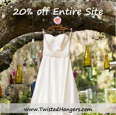 20% off ENTIRE SITE using code LAUNCH. Ends Sunday 8/16 at midnight PST.  www.TwistedHangers.com
