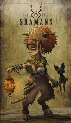 Satyr horned Lantern bat skull necklace Leaf cloak, shaman, druid.