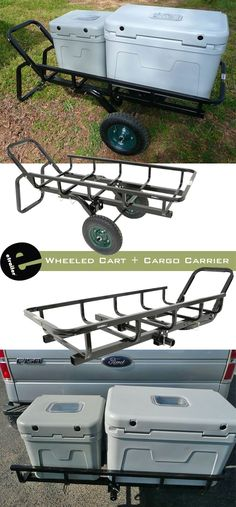 Haul your heavy game or gear to your vehicle with this wheeled cart. Kayak Storage, Truck Mods, All Terrain Tyres, Rubber Flooring, Trailer Hitch, Truck Accessories, Roof Rack, Kayak Fishing, Tilt