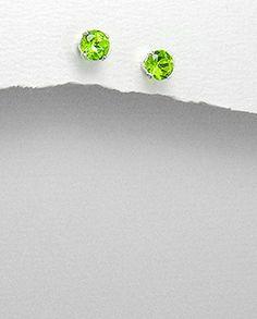 Peridot Earrings, Stud Earrings, Costume Jewelry, Aur, Stud Earring, Earring Studs, Fashion Jewelry