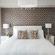 Very nice against crisp white walls and linen