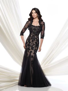 Check out the deal on Montage by Mon Cheri 115978 Gown with Lace Bolero at French Novelty