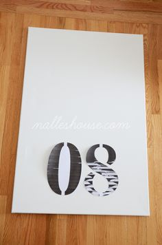 I've finally finished and photographed my other DIY art. I decided to paint some numbers on a canvas that are significant to us. I'll le...