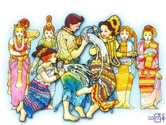 Thingyan is the burmese new year and is a day most important in the burmese calendar pouring water on one another water dousing is the key feature of myanmar awesome thingyan festival by aungkyawkhin mand Vietnam, Magical Tree, New Year Celebration, Burma Myanmar, Cartoon Photo, Sunflower Flower, Burmese, Modern History, Country Art