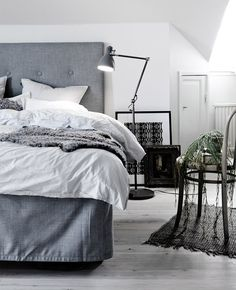 Grey/White Bedroom Via The Snowball