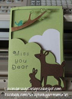 Paper pieced card using the CTMH Artfully Sent Cricut cartridge from Lavender Sage Designs
