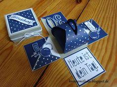 Explosionsbox | für einen Mann | zum 30. Geburtstag ~ Kreiere mit Liebe - Stempeln, Stanzen, Prägen und Co.