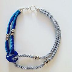 #onlychic_jewelry#cordnecklace#bluesilvernecklace#statementnecklace#fashionjewelry#ogrlica#handmadejewelry
