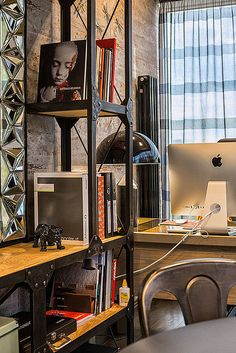 Office of the lead architect from Dinastia Designs team. Loft, metal, vintage.