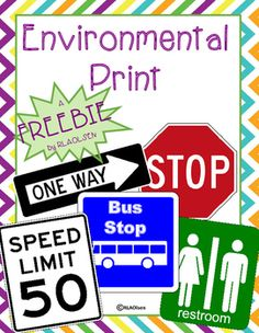 Help encourage print awareness in your students with these environmental print cards! A FREEBIE by RLAOlsen!