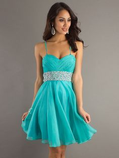 A-line Spaghetti Straps Sleeveless Short/Mini Chiffon Cheap Party Dresses/Cheap Homecoming Dress #FD089