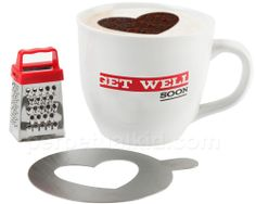 After we put all of your symptoms into WebMD, it recommended that you have a friend make you a thoughtful and delicious cappuccino with our Get Well Cappuccino Mug Gift Set!