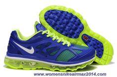 Nike Air Max 2012 Game Royal Metallic Silver Electric Green 487982-403 Mens Online