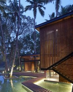 Image 7 of 57 from gallery of Villa in the Palms / Abraham John Architects. Photograph by Edmund Sumner Tropical Architecture, Landscape Architecture, Architecture Design, Tropical House Design, Tropical Houses, Villa Design, Villas, Modern Tropical, Resort Villa