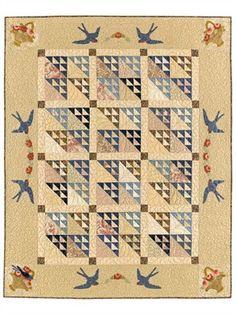 Flight of Swallows, Late Bloomer Quilts
