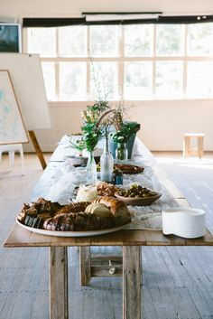 Photos by Luisa Brimble. from Eat Read Love on Vimeo . A video by David Child and Katrina Parker Thank you to . Easy Entertaining, Kinfolk, Al Fresco Dining, Rustic Table, Humble Abode, Tablescapes, Kitchen Dining, Buffet, Food Photography