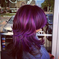 Purple pravana hair color. Love it!