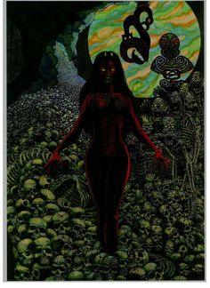 HINENUITEPO Goddess of Night and of the Underworld by StonedSmeagol on deviantART