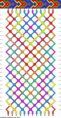 friendship bracelet pattern