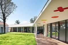 This Fun-Filled Childcare Center Is Like A Big Toy Box A+Architecture have designed a childcare center in Lodève, France Big Toy Box, Pre Primary School, Fun Places For Kids, Nursery Layout, Agricultural Sector, School Architecture, Architect Design, Toy Boxes, School Design