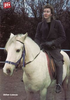 Young Julian Lennon riding a horse in the John Lennon Son, Julian Lennon, Music Love, My Music, Pete Townshend, Peter Gabriel, Hey Jude, Yoko, Mom And Dad
