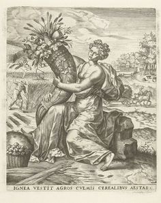 """Summer"" by Lambert Lombard, Anonymous, Hieronymus Cock, 1568"