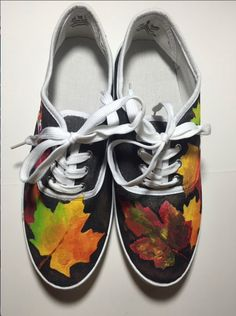 Autumn Leaf Shoes by ShoesbySues on Etsy