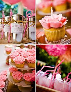 Decoración rosa para una fiesta de cumpleaños de princesas