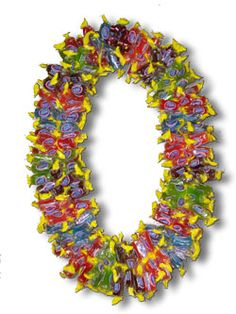 GIANT JOLLY RANCHER LEI.  Order at www.BuyGraduationLeis.com. This is a favorite Birthday Lei and Graduation Lei.