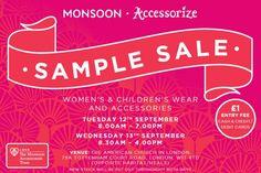 Monsoon -  Accessorize Sample Sale -- London -- 12/09-13/09