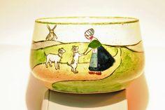 Vintage Haag Austria Dutch Girl bowl by VinChic on Etsy