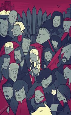 Game of Thrones by Ale Giorgini, via Behance