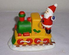 Christmas Santa Claus Train Figurine