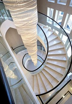 Floating marble staircase
