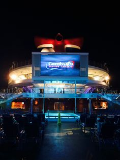 Carnival Triumph. Dive in Theater-with popcorn and fuzzy blankets!