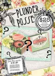 Monthly Jewelry Subscription! Plunder design jewelry--vintage inspired and SO cute! What a fun membership--and what cute boxes. http://plunderdesign.com/LindaWitt