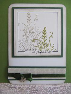 Sympathy card with Viva decor stamp, ribbon and a bead. netsoojmiks freubelhoekje