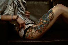 55 ideias de tatuagens para as coxas - Assuntos Criativos