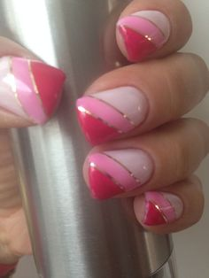 Pink nails - #accentnails #accent #nails