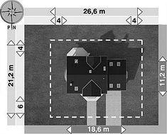 Usytuowanie projektu Heliodor - murowana – beton komórkowy na działce