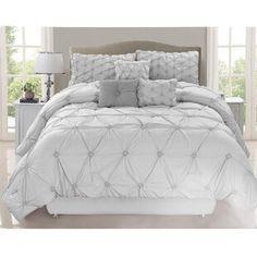 Comforters & Comforter Sets You'll Love in 2021 | Wayfair Designer Comforter Sets, Grey Comforter Sets, Bedding Sets, Plum Comforter, Queen Bedding, White Cosmo, Living Colors, Master Bedroom, Bedroom Decor