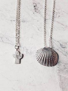 Ketten mittellang - Kette Muschel ▲ Silber - ein Designerstück von faitmaison bei DaWanda