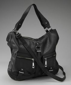 Take a look at this Segolene Paris Black Double Pocket Tote by Segolene Paris on #zulily today!